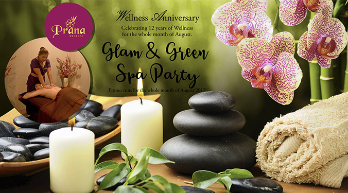 Glam & Green Spa Party Anniversary Promo